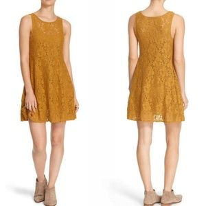 Free People Floral Lace Skater Dress